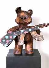 Teddy with a riffle. 2018.