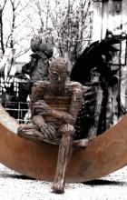 Man on the moon. 2011. Steel.