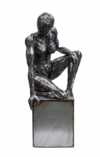 To be a sculpture. 2013. Steel.